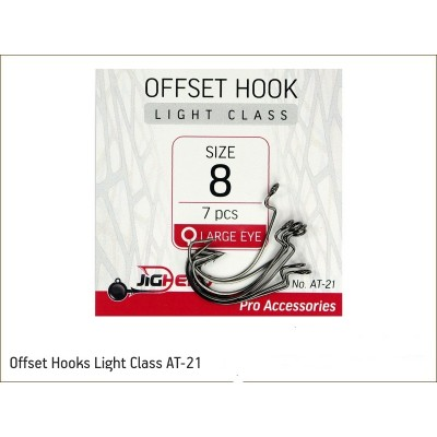 JIGHEAD Offset Hooks Light...