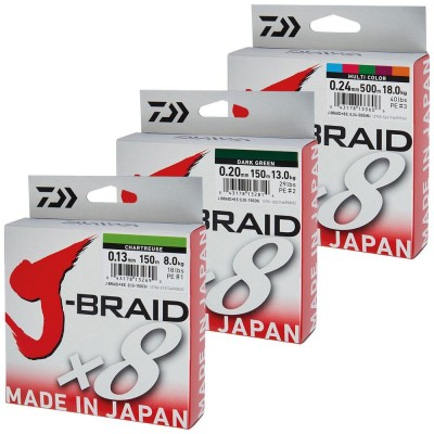 DAIWA J-BRAID X8 - 0.18 MM.